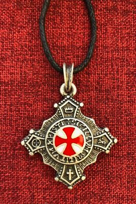 Knights Templar Cross Pendant Order Knight Medieval Ant Silver Plated Necklace