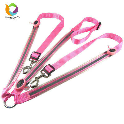 Pink Dual LED Horse Halters Night Visible Horse Harness Riding Accessory E