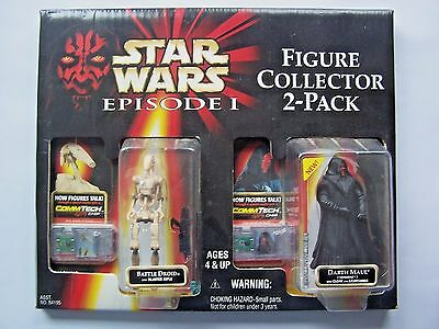 Star Wars Figure Collector 2 Pack Episode 1 Darth Maul & Droid Nib Commtech Chip