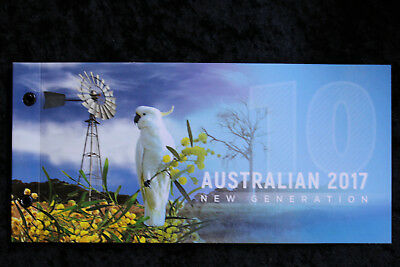 AUSTRALIAS NEW $10 Dollars 2017 FOLDER. *Limited-edition of only 100.