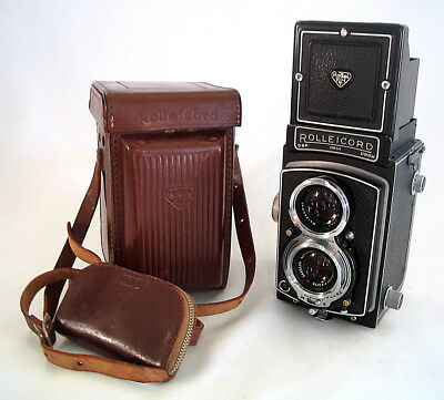 Vintage Rolleicord 3.5 75mm Xenar DBP DBGM 6x6 Camera w/Case + Filters NM!!