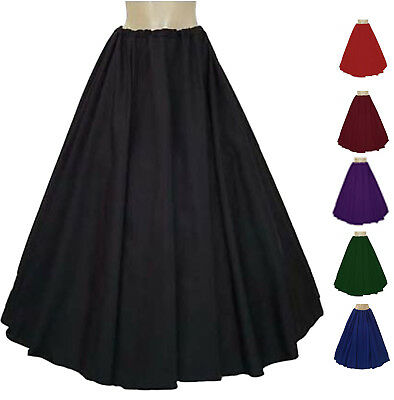 RENAISSANCE Full Length Skirt Medieval Civil War Pirate Wench Comes In 12 colors