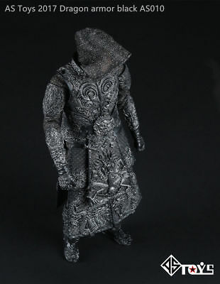 AS Toys 1:6 Scale Ancient General Black Color Knight Armor AS010 Clothes Set