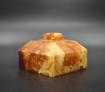 Chinese antiques old jade square seal