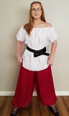 Medieval Renaissance Chemise Pirate Gypsy Peasant Top Civil War Blouse 12 Colors