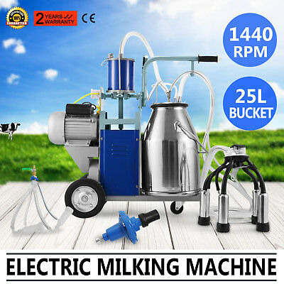 Electric Milking Machine For Farm Cows/Goats 12Cows/hour 25L 0.04-0.05MPa GREAT