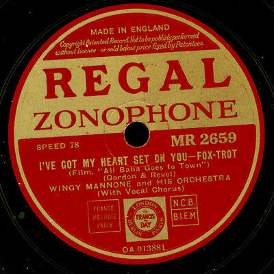 WINGY MANONE & HIS ORCHESTRA I've got my heart set on you/Laugh your way... X105