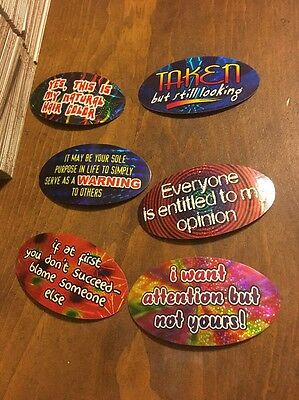 368 Funny Quote Vending Machine Stickers  With Folders