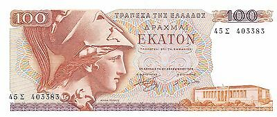 Greece  100 Drachmai  8.12.1978  P 200a  Unirculated Banknote , G. 1A