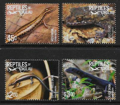 Tokelau Islands 2017 Reptiles Set Mnh
