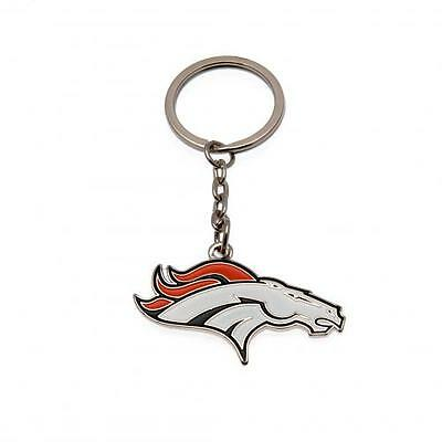 NFL Official Denver Broncos Metal Crest Keyring