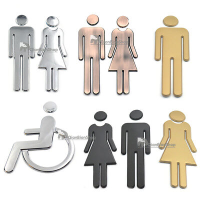 Adhesive Backed Men&Women Handicap For Toilet Public Restroom Bathrooms Signs