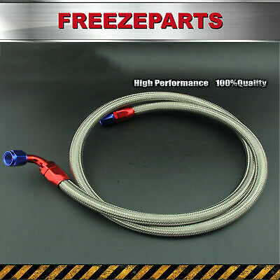 AN10 10AN 1.6M 5.24FT Stainless Steel Braided Oil Fuel Line & Fitting Hose End