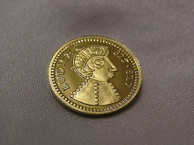 SOLID SILVER GILT SOVEREIGN of KING LUDICA 825 - 827 AD 4.5 GRAMMES