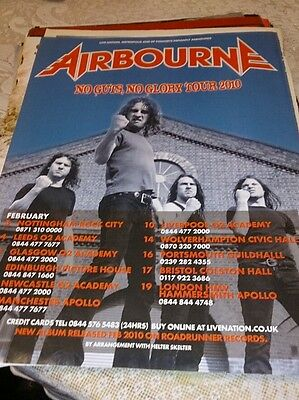 Airbourne tour poster