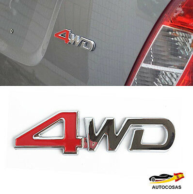 4WD 3D Car Sticker Chrome  Metal Etiqueta Auto Pegatina Quality