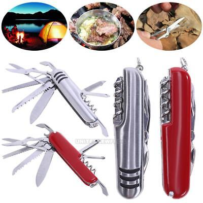 11 in 1 Multifunction Folding Knife Blade Opener Outdoor Survival Camping Tools