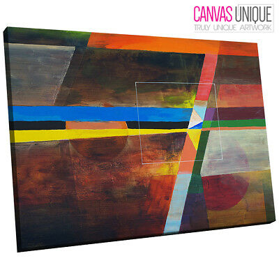 AB1559 orange pink blue white line Abstract Wall Art Picture Large Canvas Print