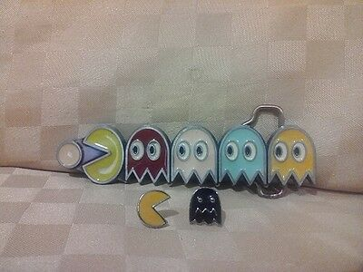 Vintage Pacman Belt Buckle & Pacman Earrings
