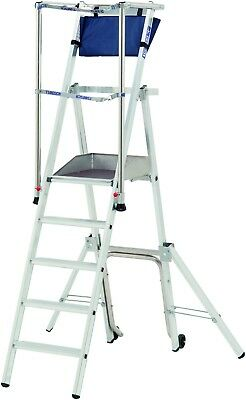 Raptor Podium Work Platform - Telescopic Rungs, Guardrail, Tool Holder, Toeboard
