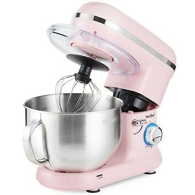 Retro Food Stand Mixer Kitchen Aid Pink Bowl Dough Whisk Beater Baking 5.5L NEW