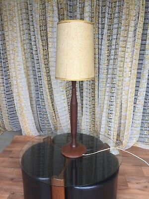 Retro Lamp With Timber Base - Good Working Order.