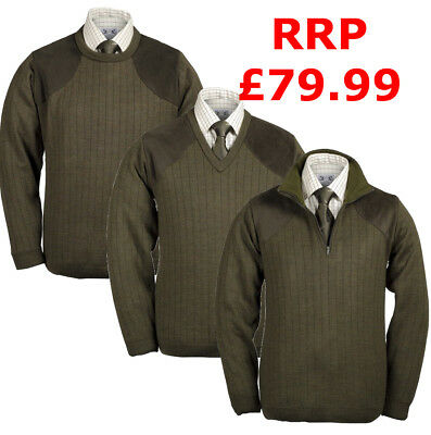 Lansdown Mediumweight Shooting Jumper With Patches, Crew Zip & V Neck CLEARANCE