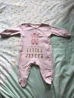 Next Little Sister Sleepsuit First Size