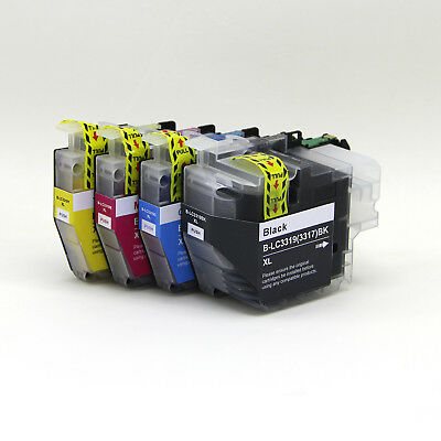4 Generic dye base LC3319XL Lc3317HY ink for brother MFC-J5730dw J5330dw J6530dw