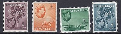 Seychelles  1938    S G 135 - 138Ac     Values To 9C    Mh