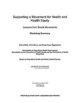 Supporting A Movement For Health An  BOOK NEW
