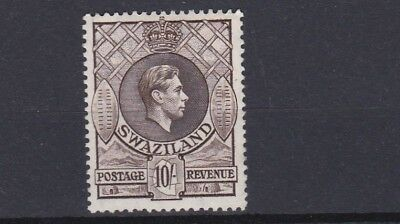 Swaziland   1938  S G 38A     10/-  Sepia       Mh