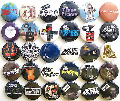 ARCTIC MONKEYS Humbug Suck It and See Brianstorm Pin Button Badges Set Lot of 30