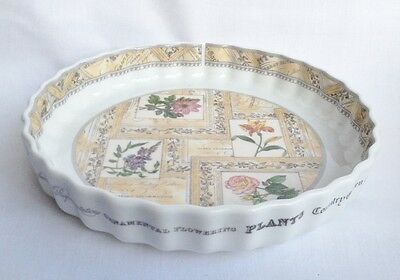 Royal Worcester Country Garden Flan Dish Boxed