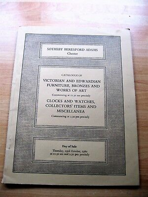 TWO SOTHEBY 1980 AUCTION CATALOGUES; FURNITURE RUGS CLOCKS BRONZES Freepost UK