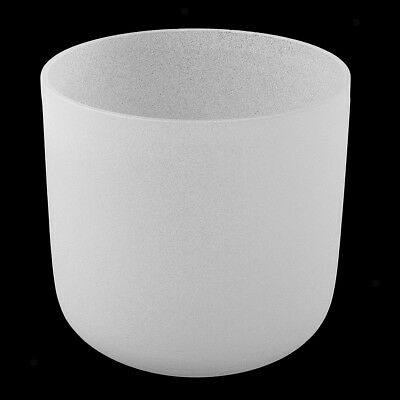 Sacral Chakra Crystal Singing Bowl D Note High Quality Sound 6 inch White