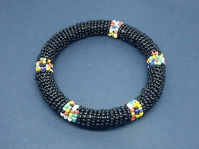 Ethnic African Kenya Masai beaded bangle bracelet