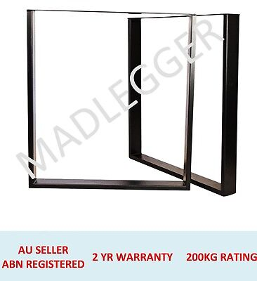 2x FRAME METAL FURNITURE LEGS HEIGHT 400MM, 457MM, 600MM, 710MM