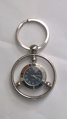 Keyring Watch Chrome Quartz