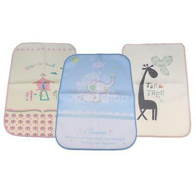 3pcs Baby Nappy Changing Pad Mat Washable Home Travel Diaper Mat Waterproof