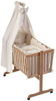 Easy Baby 480-83 - Sleeping Bear Set biancheria per lettino, colore: Beige - NUO