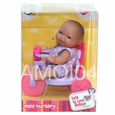 Berenguer Baby Doll Mini Nursery in Tricycle Lots to Love Babies For Ages 2+ New