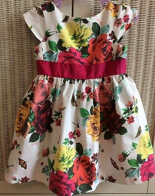 TED BAKER Size 12-18 Months Baby Girl Dress White Floral Rosebug Wedding Party