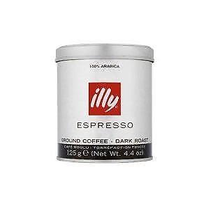 illy Coffee Ground Beans Dark Roast 125g (box of 12) - Best before November 2015