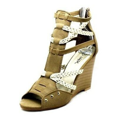 Ladies strappy open toe wedge heel sandals