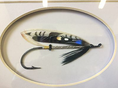Megan Boyd Salmon Fly, Framed