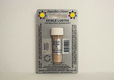 Sugarflair Gold Rush Lustre Dust Powder, 2g, Edible Food Colour Tint, sugarcraft