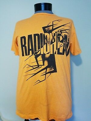 "~~ Radiohead 2012 Concert T Shirt ~  ""waste"" ~ Bright Orange ~ Size Xl"