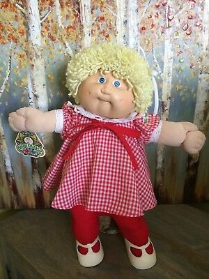 Vintage 1983 Cabbage Patch Kid Doll Tag, Full Outfit and More!