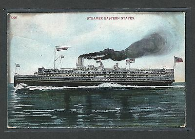mjstampshobby 1910 US Post-Card Steamer-Eastern-States VF Cond (Lot1460)